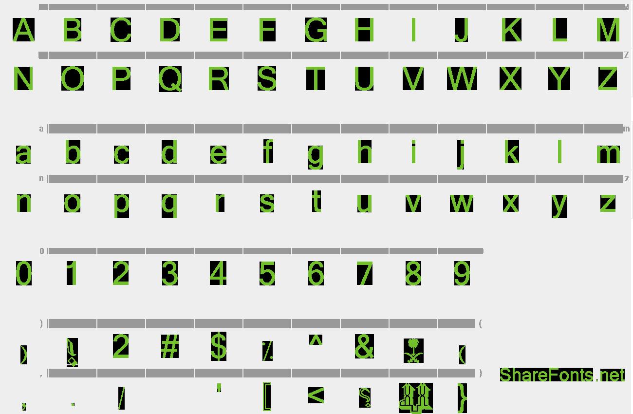 Download Free Font MCS Makkah E_U 3D
