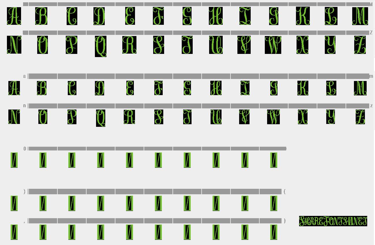 Download Free Font Free Monogram