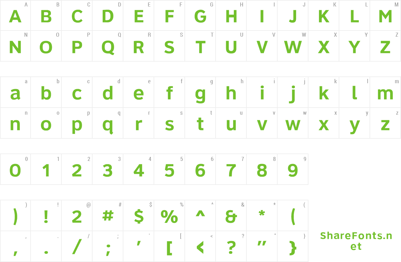 Font Roadgeek 2005 Series 6B preview