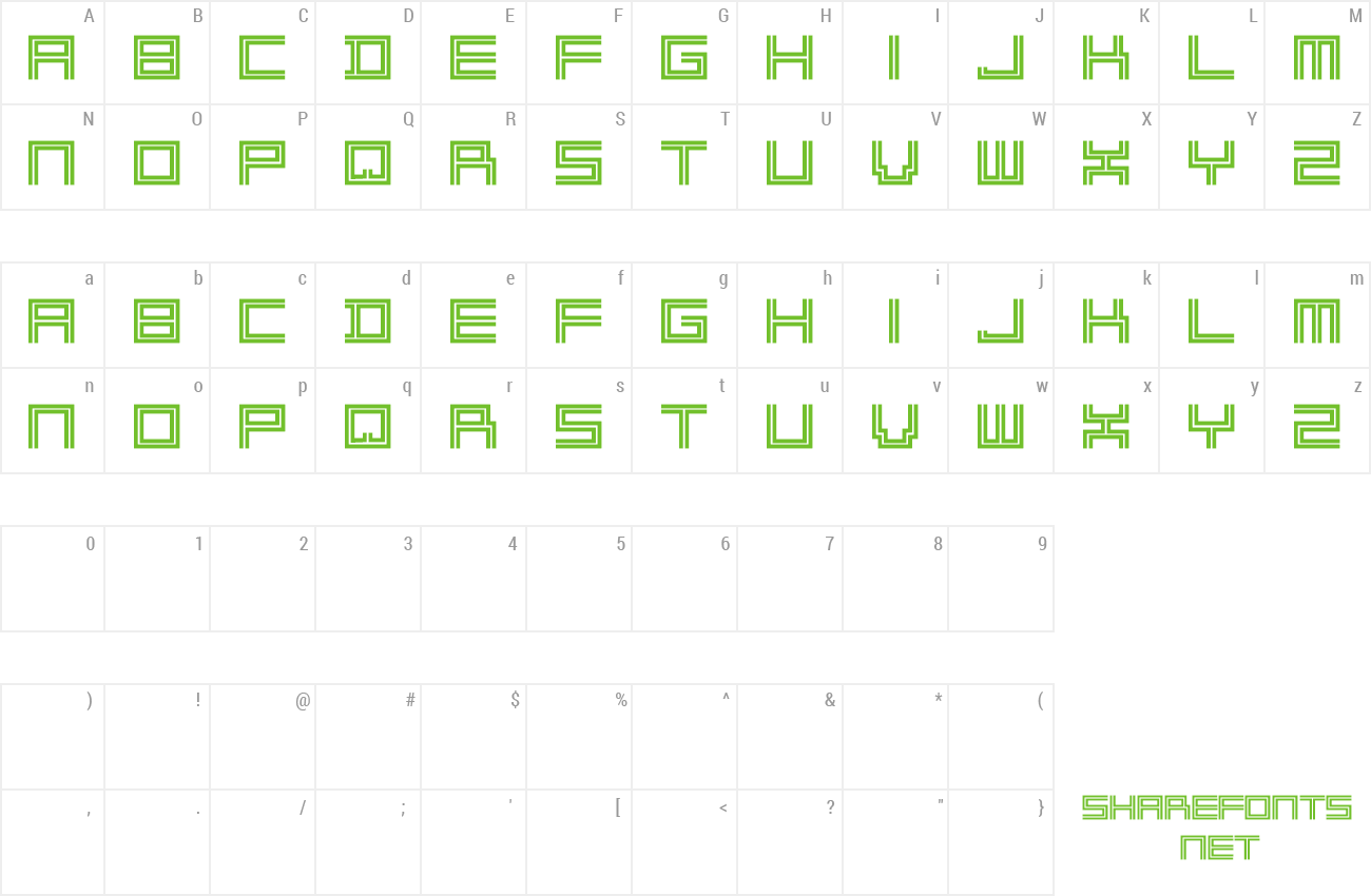 Download Free Font 2 Lines