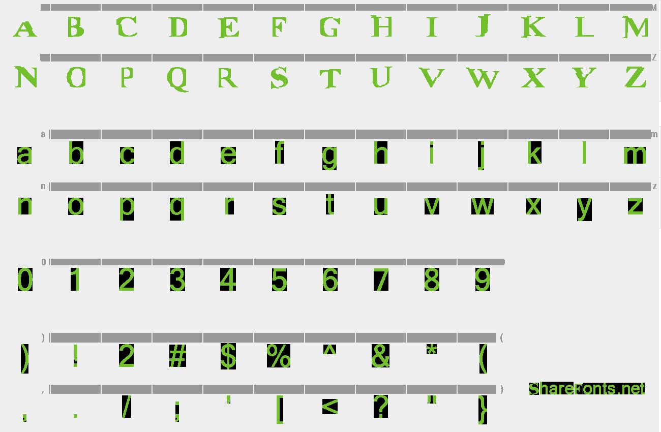 Download Free Font Matrix