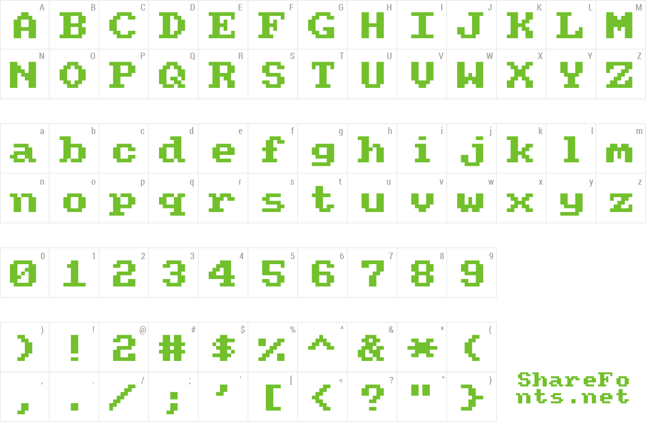 Font Amstrad CPC464 preview