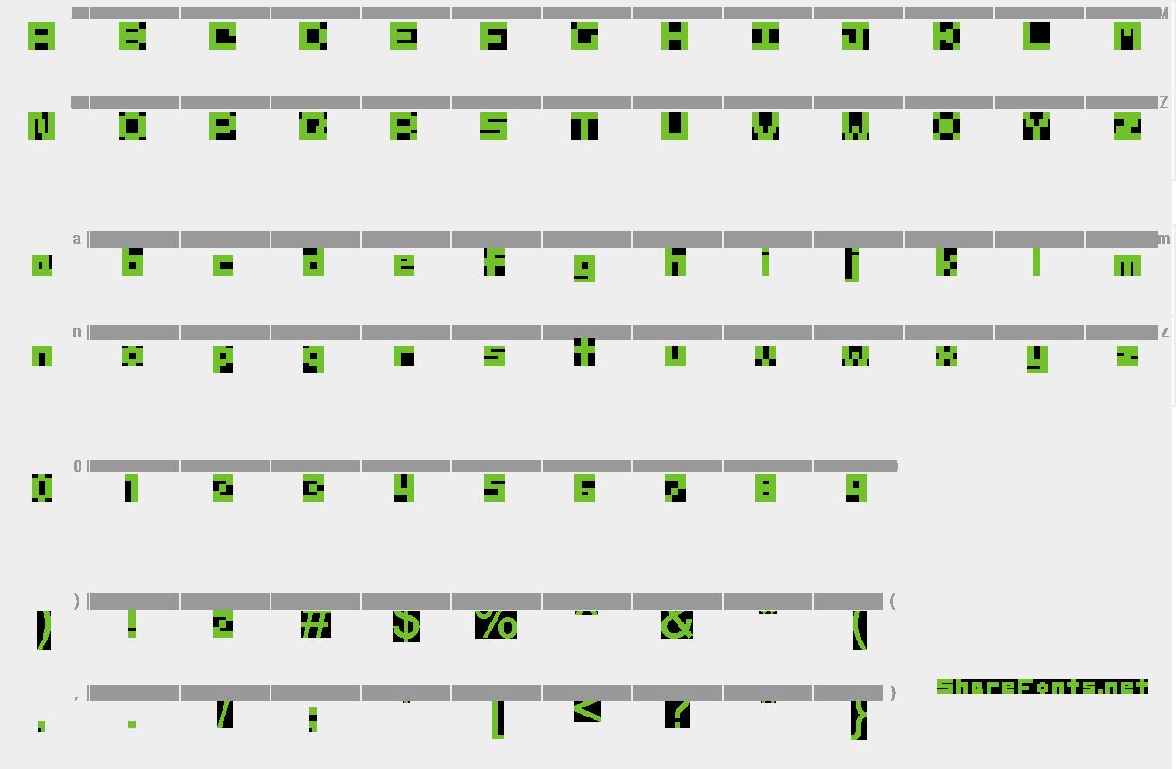 Download Free Font Sd 4x4 Pixel