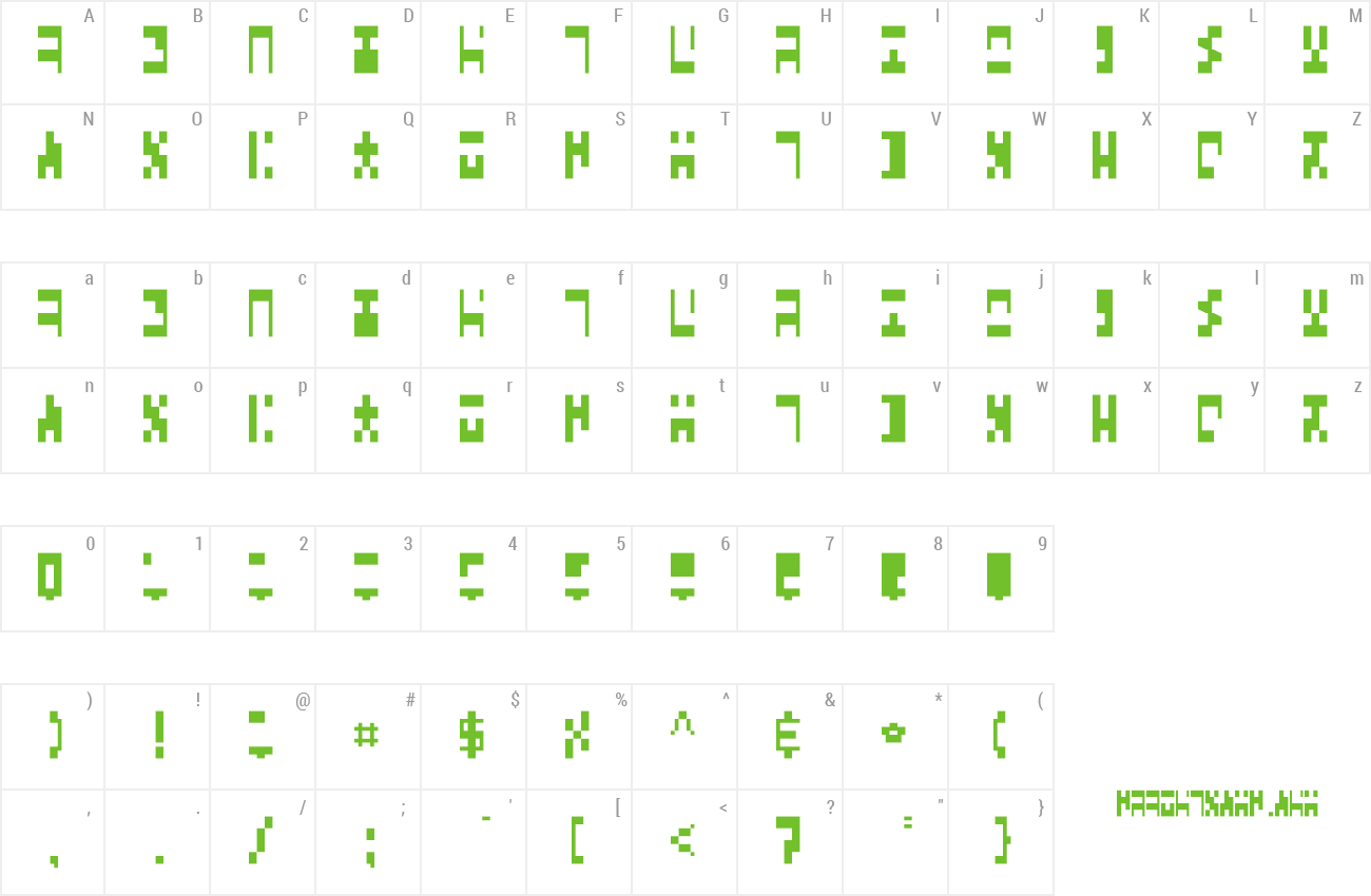 Font aaAncient preview