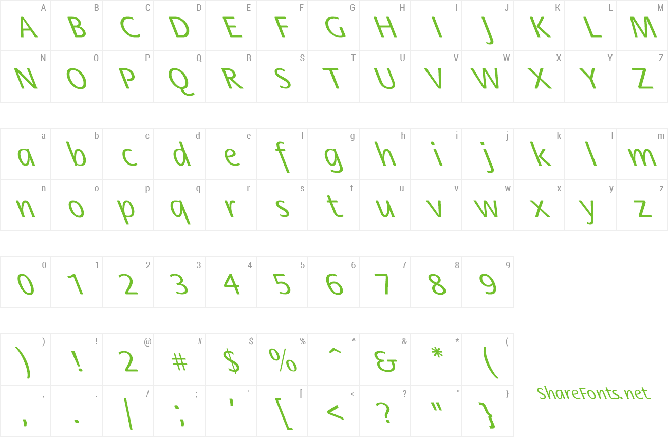 Font Flora-Normal Lefty preview
