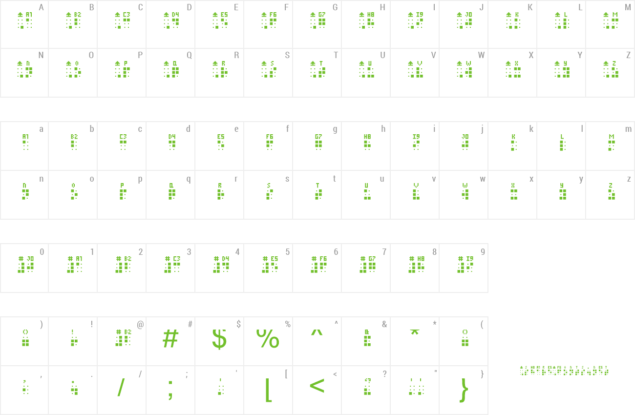 Download Free Font Braille Punch