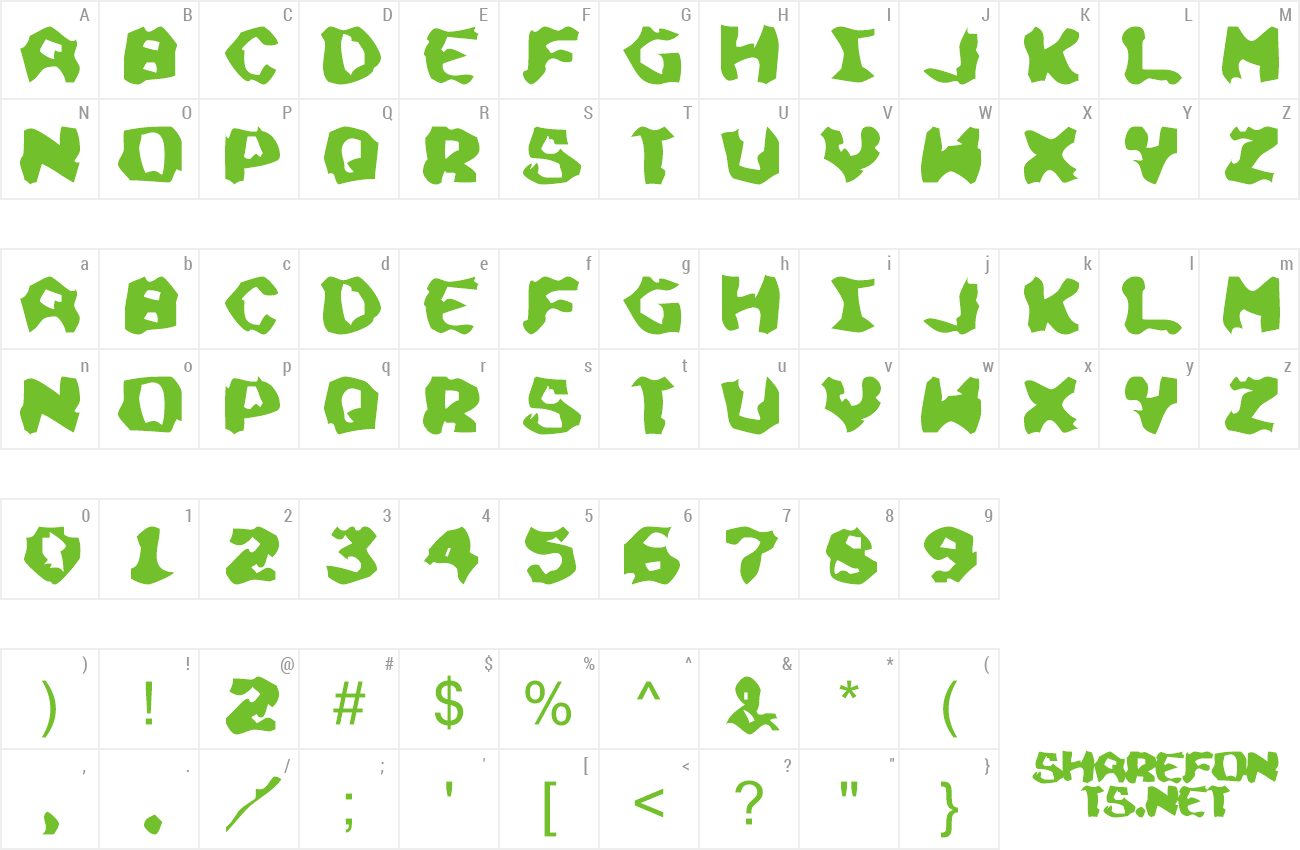 Font Chunky Soup preview
