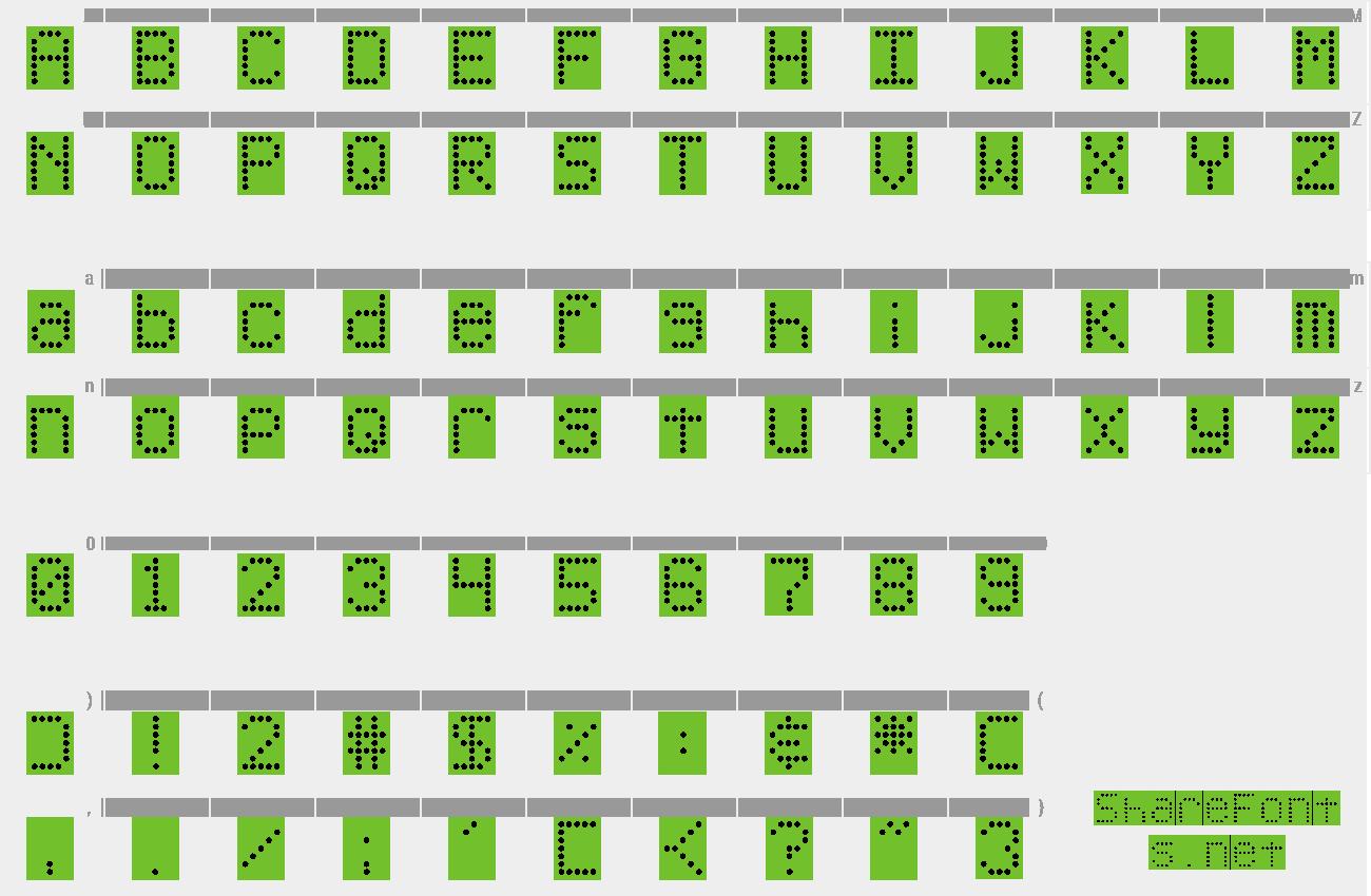 Download Free Font DJB Up On The Scoreboard – Scoreboard Sample