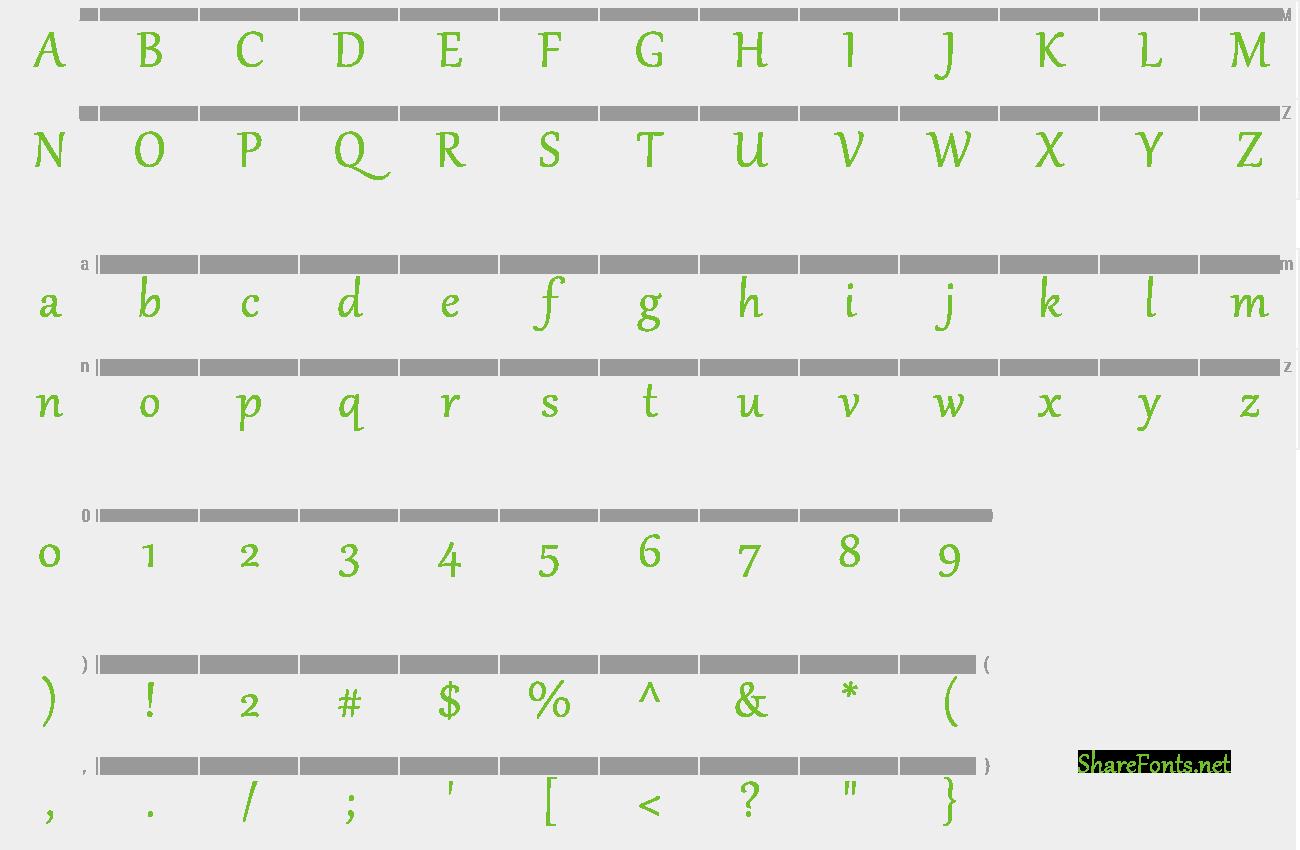 gabriola normal font