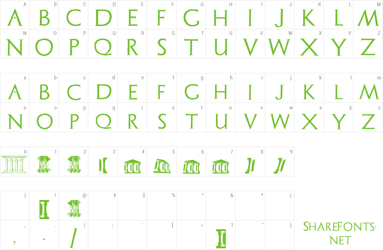 Font Archeologicaps preview