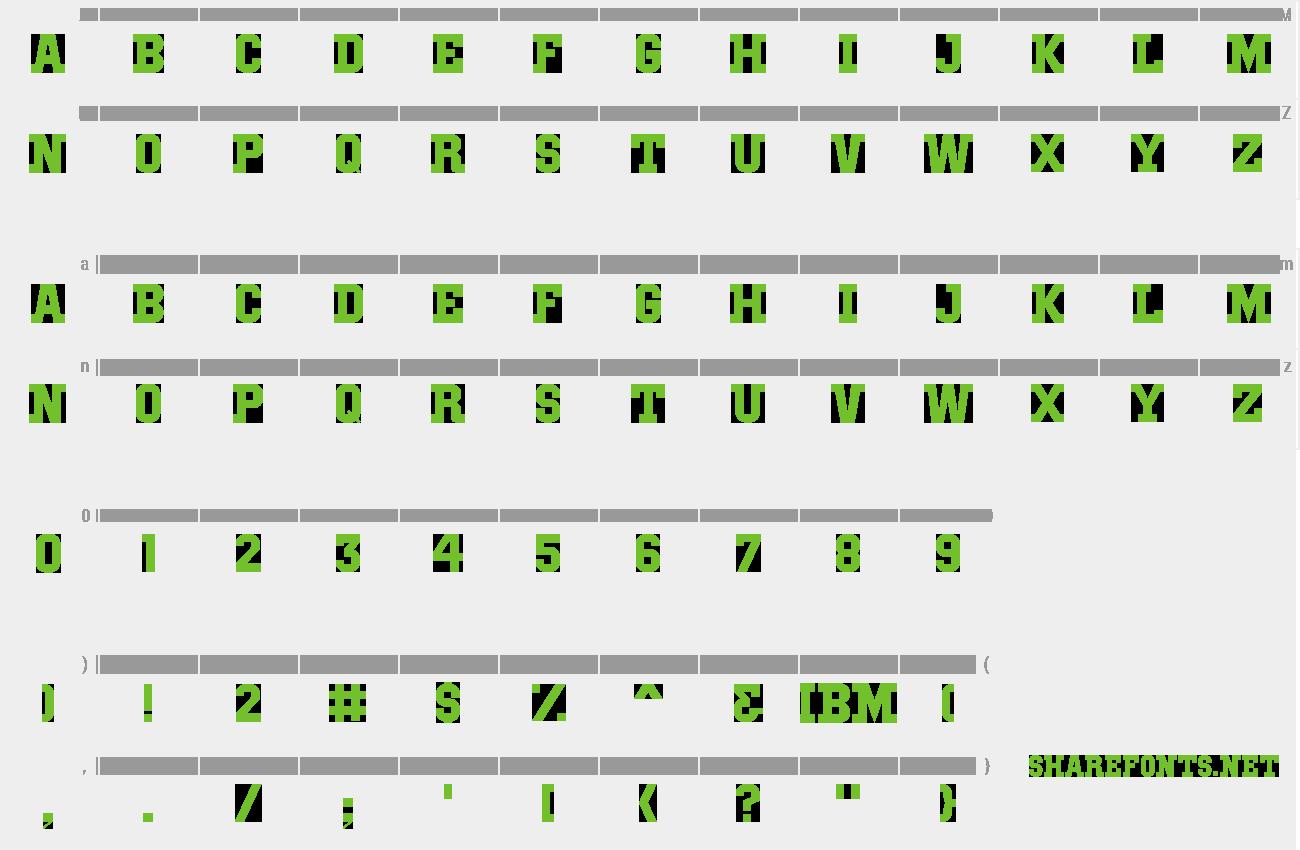 Download Free Font IBM Block Serif