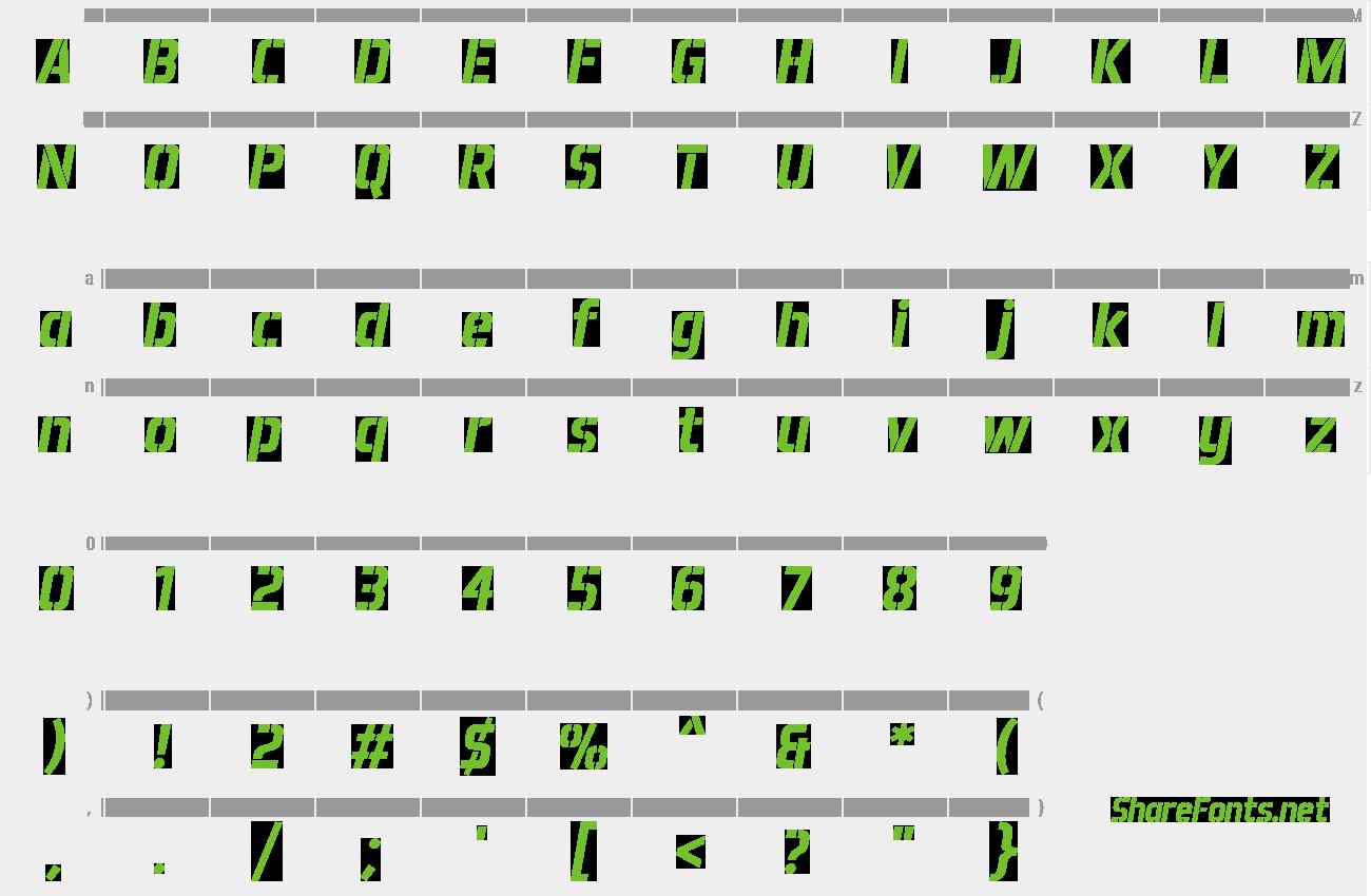 Download Free Font Aero Matics Stencil