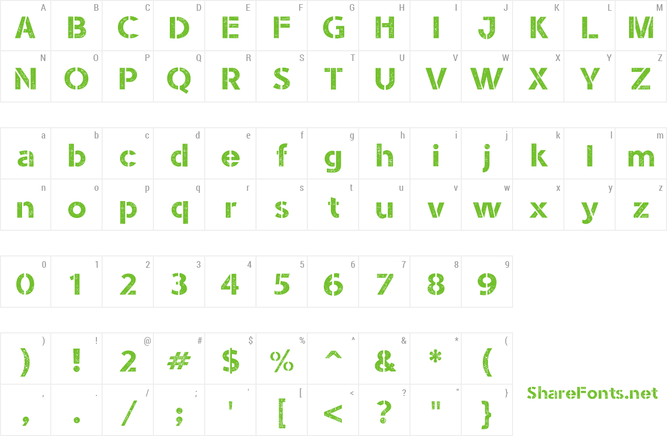 Download Free Font Stencil Army Ww I