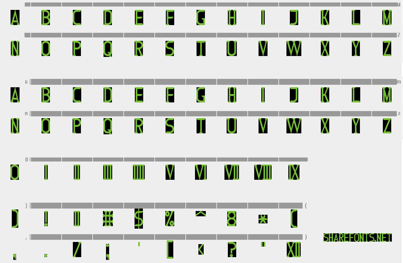 Download Free Font Roman Font 7