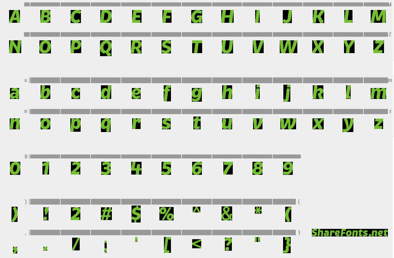 brevia bold italic font