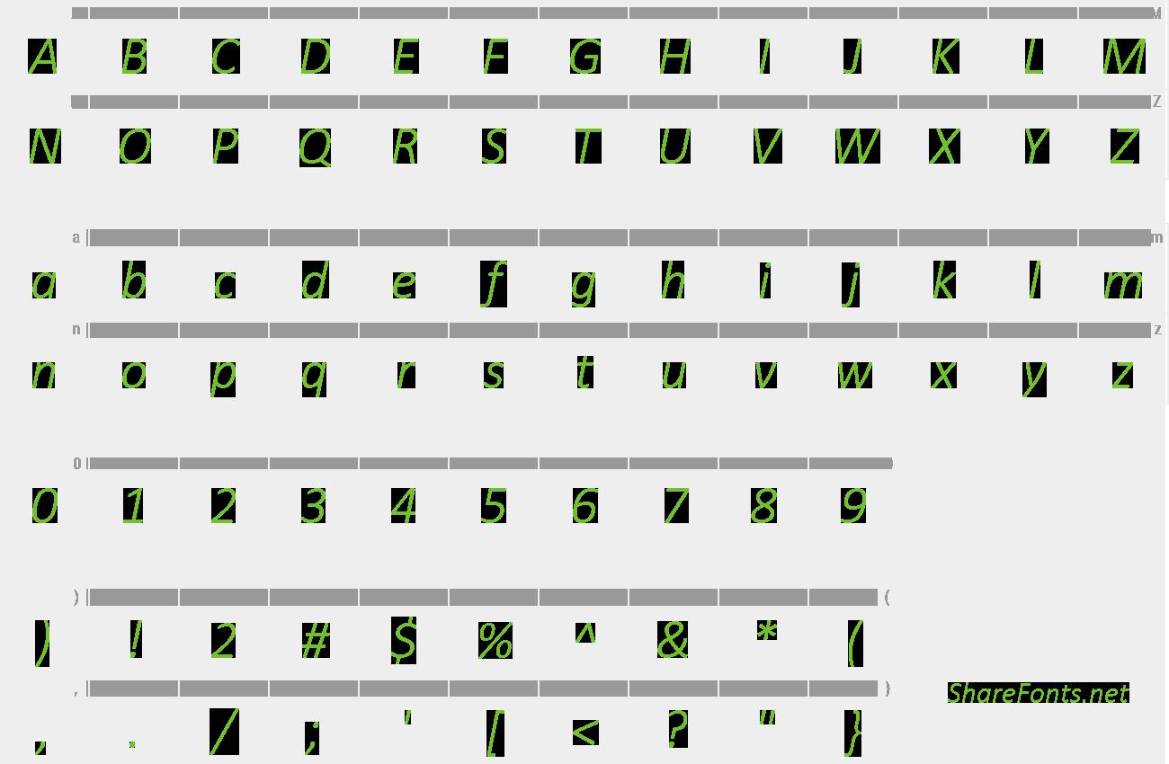 Download Free Font Calibri Light Italic