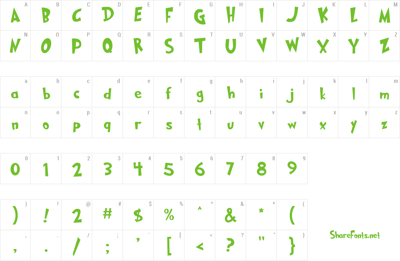 Font GRINCHED 2.0 preview
