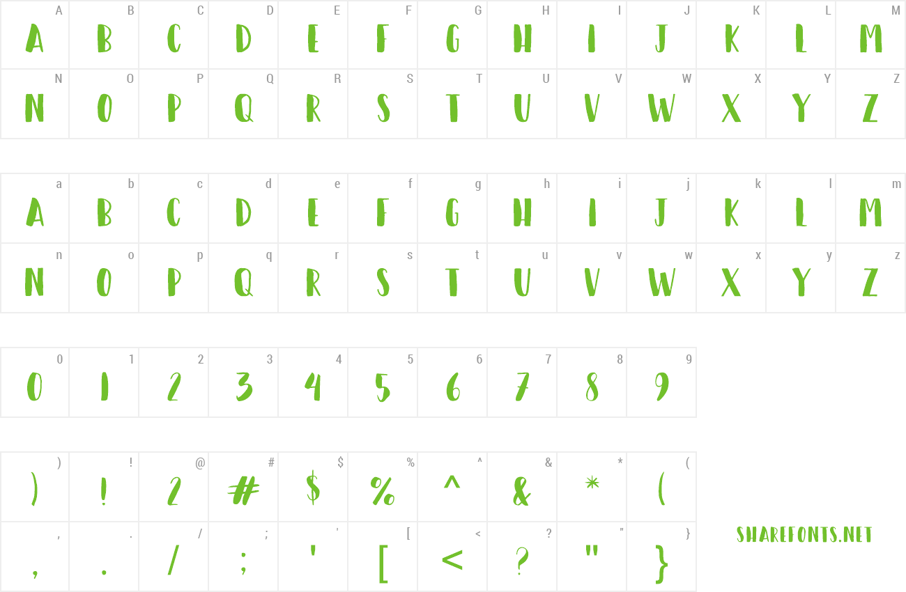 Font Happy Camper Preview