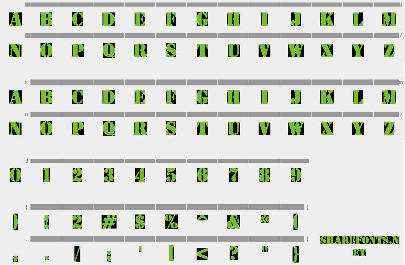 stencil font download