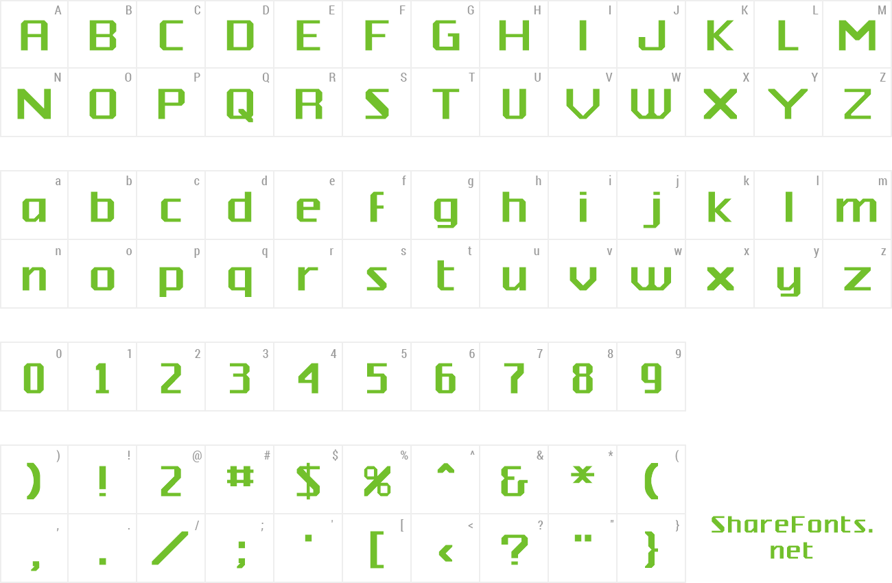 Font Silicon preview