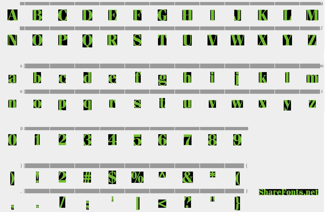 fenice std-regular font