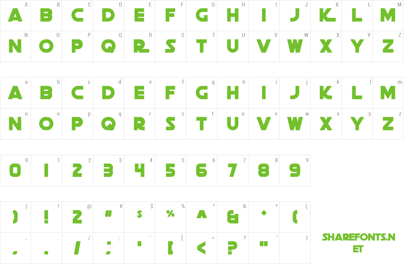 Font Death Star preview
