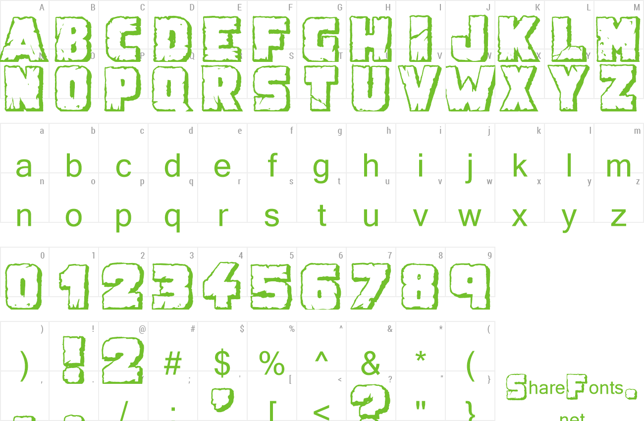 Font Demolition Crack Shadow preview