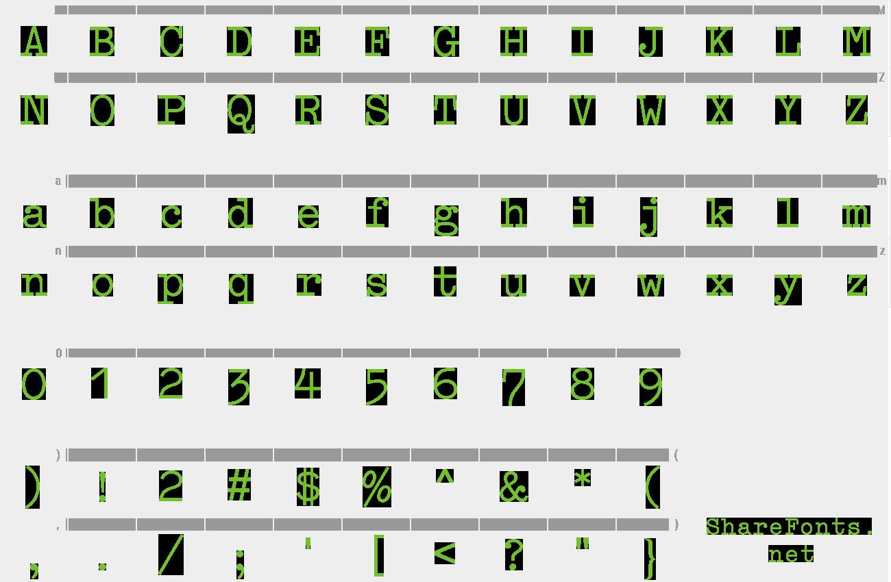 schreibmaschinenschrift