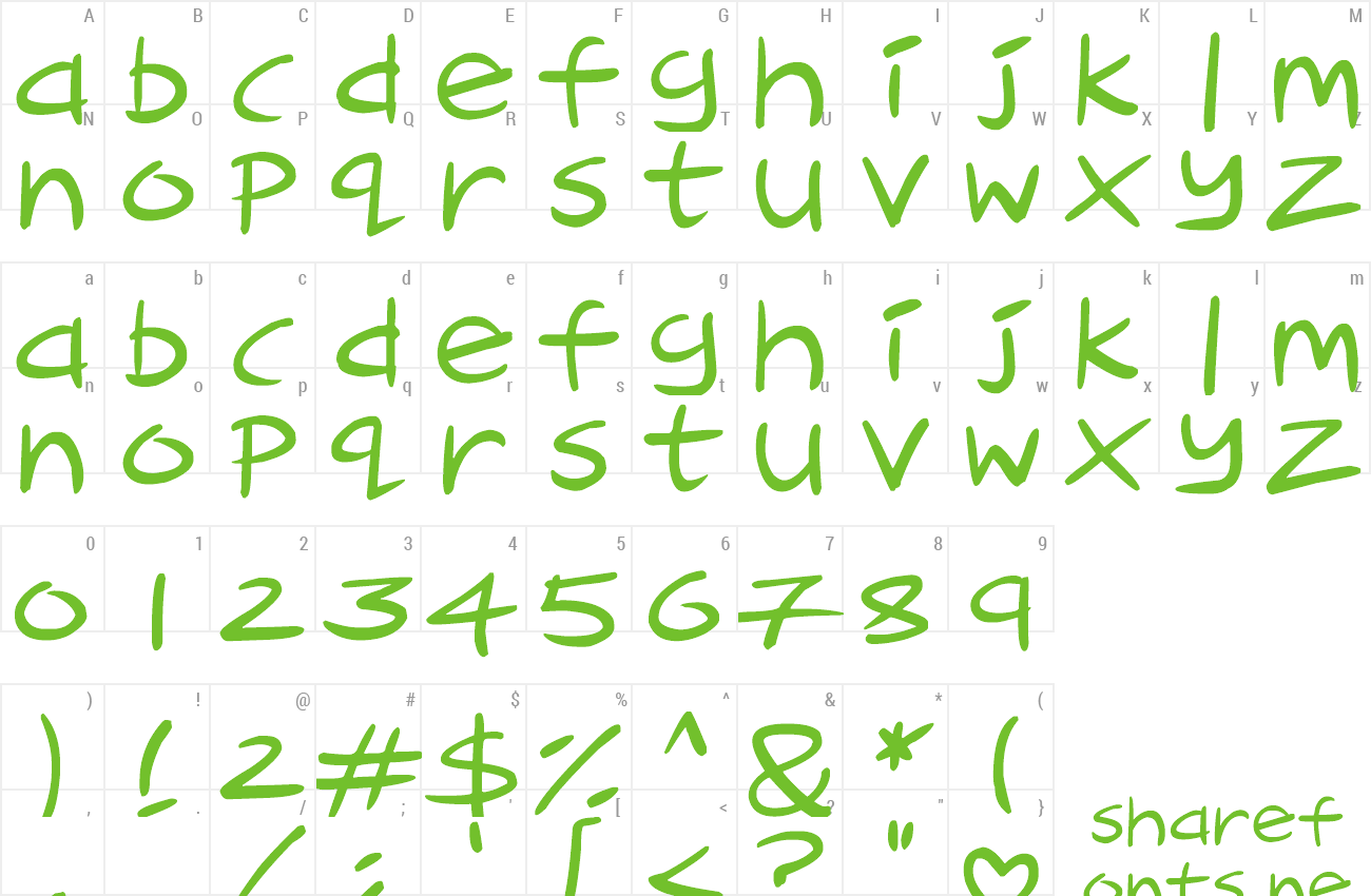 Font Cartoon Inkstrokes preview