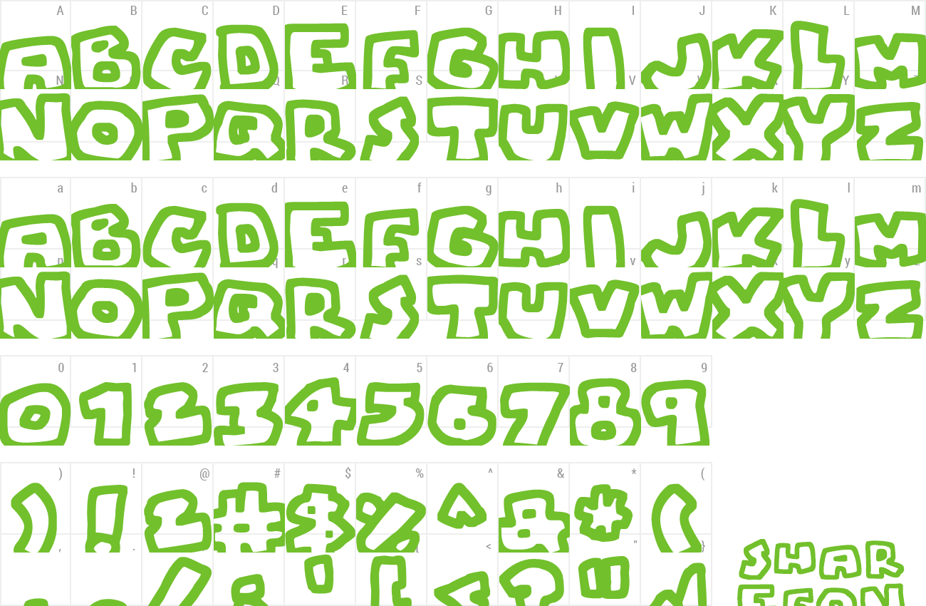 Font Chunky Boulder Outlines preview