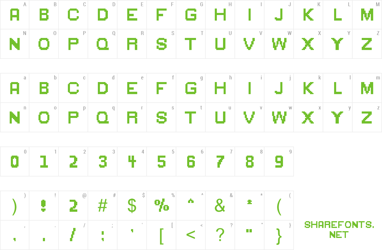 Font Green Flame preview