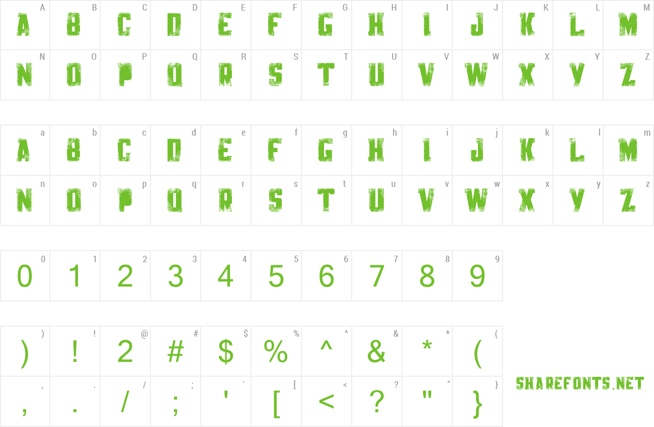 Font Knackpack Std Distroy preview