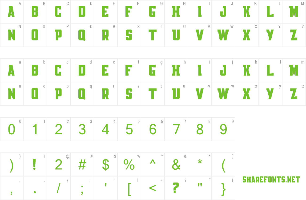 Font Knackpack Std preview