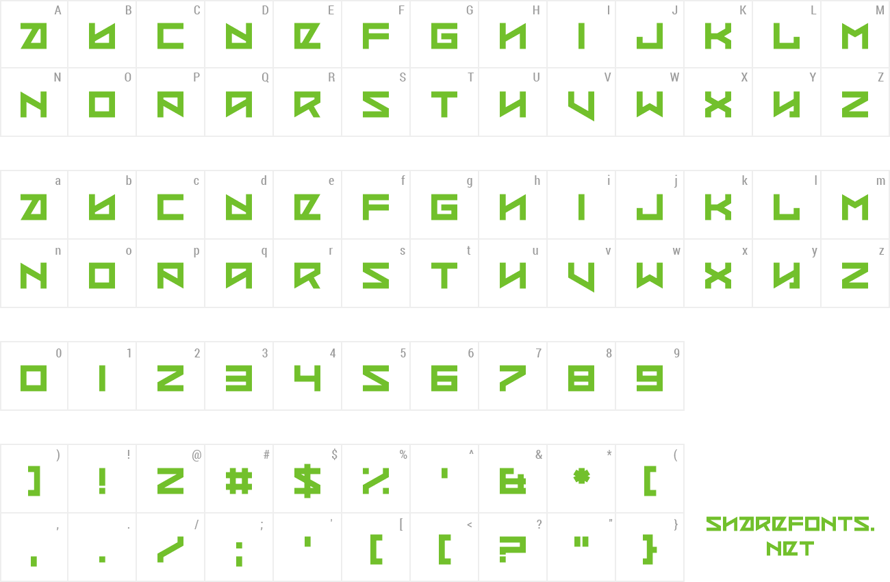 Font Coded Message preview