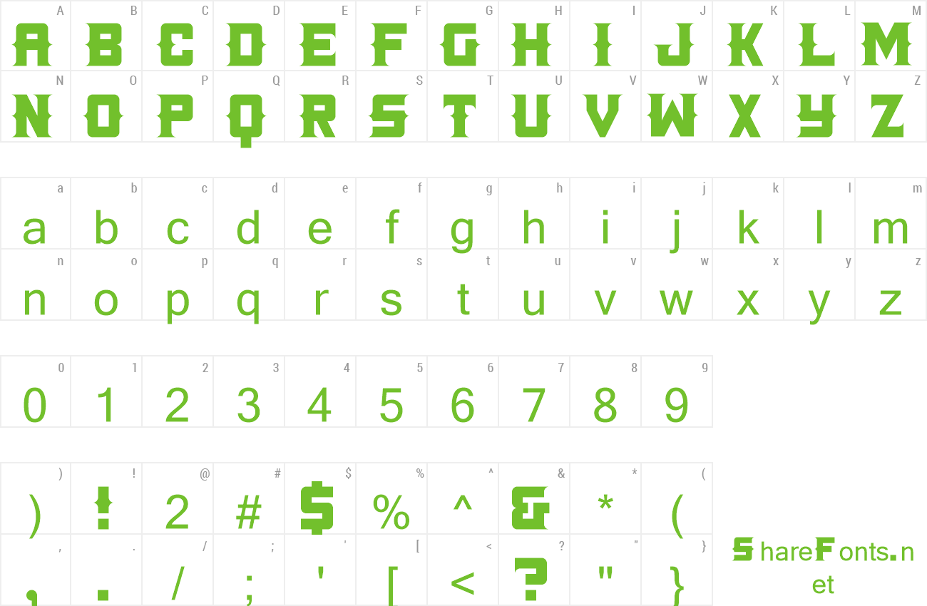 Font Land+Mine preview