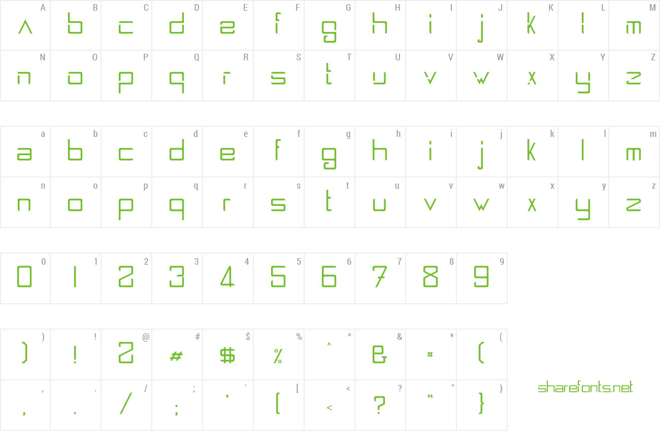 Font Spaceship 2100 preview