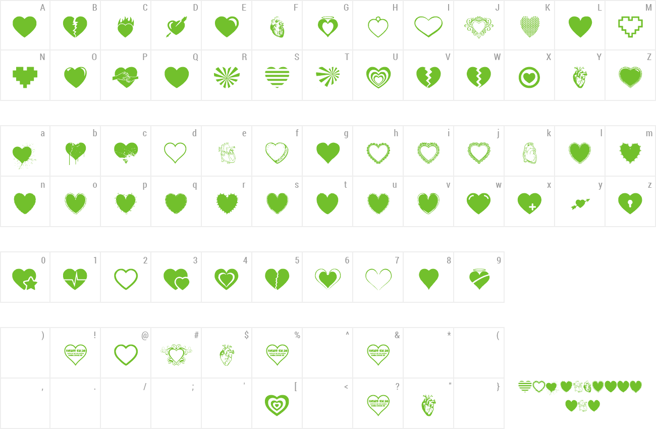 Font Hearts Salad preview