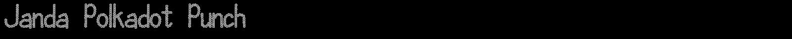 Download Free Font Janda Polkadot Punch