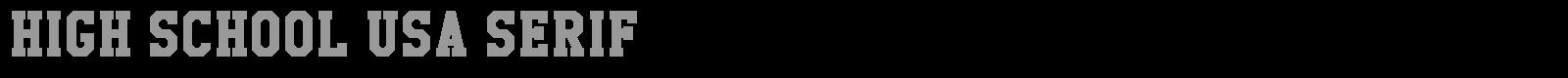 Download Free Font High School USA Serif