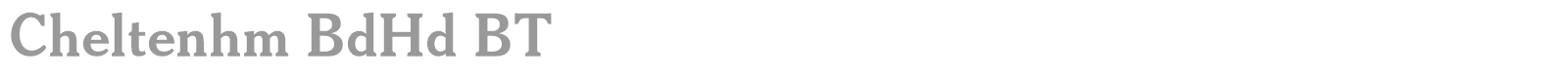 cheltenham bdhd bt font