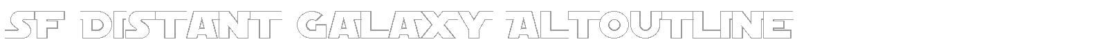 Font SF Distant Galaxy AltOutline