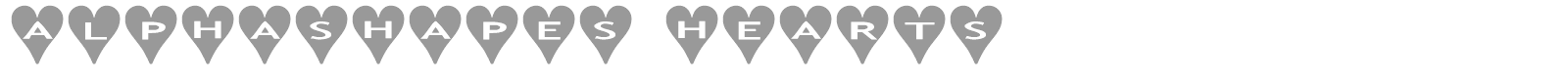 Font AlphaShapes hearts