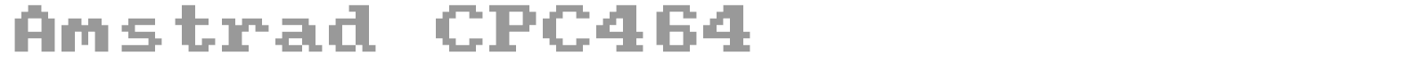 Amstrad CPC464 font preview