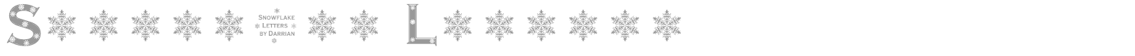 Font Snowflake Letters