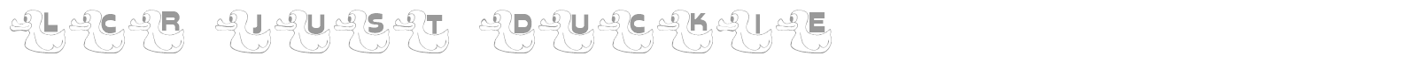 Font LCR Just Duckie