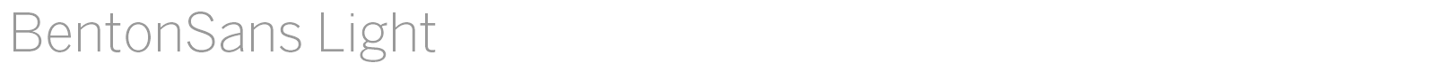 Download Free Font BentonSans Light