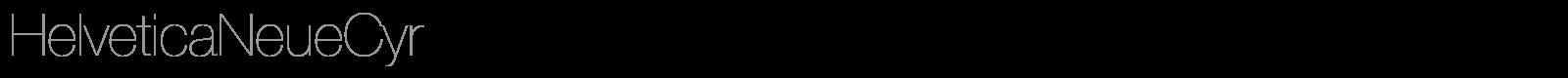 Download Free Font HelveticaNeueCyr