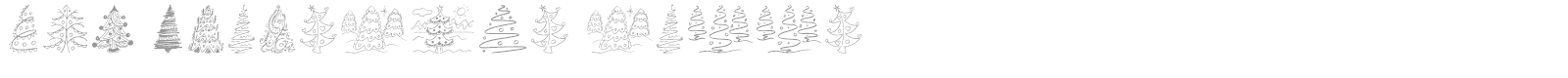 Font Fun Christmas Trees