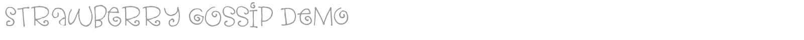 Font Strawberry Gossip