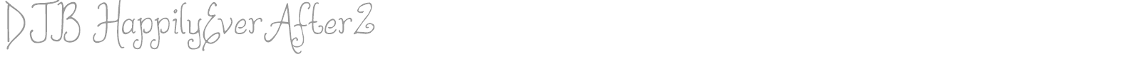 Font DJB Happily Ever After